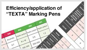 Efficiency/application of TEXTA Marking Pens